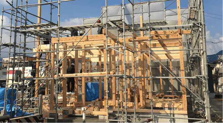 構造材は九州で育ったスギ材を使用